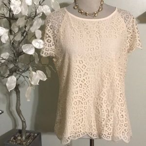J. CREW LACED TOP